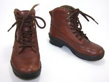 Roper Womens Horseshoes Ankle Western Boots Size 6.5 Brown Leather Lace Up