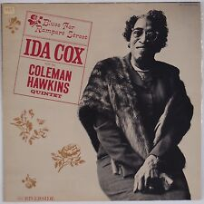 IDA COX: Blues for Rampart Street w/ COLEMAN HAWKINS Riverside Jazz DG Orig LP