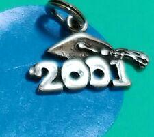 Charm H36 Graduation 2001 Sterling Silver Vintage Bracelet