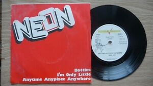 """NEON - Bottles EP 7"""",1978.Punk,New Wave,Power Pop,Rezillos.The Valves,The Users"""