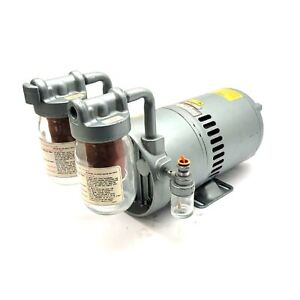 GAST 0822-V2-G273 Rotary Vane Vacuum Pump 208-220/440VAC 3-Ph, 1/2HP, 23in.Hg