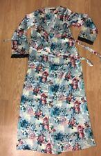 NWT BOOHOO Brand Satin Long Full Length Robe with Belt Long Small