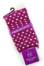 Uomo Venetto Polka Dots Men's Socks Novelty Fun Casual Fashion Crew Magenta Sock