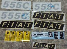 ADESIVI DECALCOMANIA TRATTORE FIAT 555C