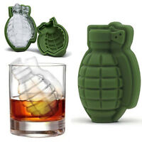 Silicone 3D Grenade Shape Whiskey Ice Cube Mold Party Tray Chocolate Mould Maker