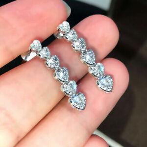 Fashion Jewelry Cubic Zirconia Drop Earrings 925 Silver Earring for Women A Pair