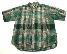 VINTAGE Native Habitat Planet Earth Button Down Shirt Men's Size XL 1X Pocket
