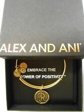Alex and Ani INITIAL R Expandable Wire Bracelet Rafaelian Gold NWTBC