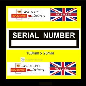 Trailer Car Quadbike Serial Number Chassis Number ID tag all-chassis-vin-plate #