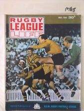 RUGBY LEAGUE LIFE 1968 MAY,JOHNNY RAPER,KEITH BARNES,GOLDSPINK,TONY BRANSON