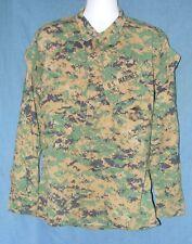 USMC Marines Woodland MARPARTCamo MCCUU Shirt Size Medium Short