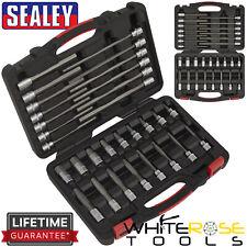"Sealey Hex Socket Bit Set 30pc 3/8"" Drive Metric 5-19mm Premier Allan Allen Key"