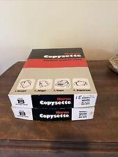 2 Huron Copysette Carbon Copy Paper White Wh9b11 500 Sets 85 X 11 Vintage