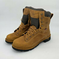 """Danner Men's Quarry USA 17315 8"""" Soft Toe Work Boots Distressed Brown Size 14 D"""