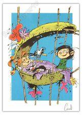 Ex-libris Coicault Hommage à Franquin Gaston 250ex signé 14,5x20,5