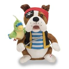 Cuddle Barn Animated Singing Plush Toy Bulldog Bops Pirate Pete CB93060