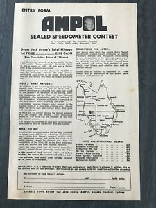Ampol Collectable 1950s Jack Davey's Speedometer Competition Reliability Trial
