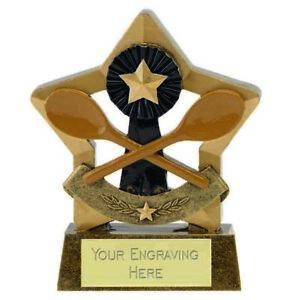 Mini Star Wooden Spoon Trophy Award (8cm) free engraving & p&p