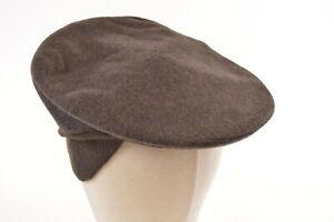 Borsalino NWT Wool Blend Newsboy w/Flaps Italy Brown Melange 6 & 3/4, 55, S