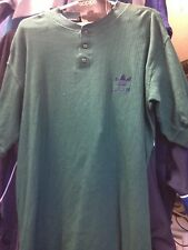 ADIDAS VINTAGE CLOTHING  HENLEY36/38 INCH BNWL AT £16 GREEN MADE 1980