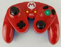 Nintendo Wii Mario Wired Fight Pad Controller Red 085-006 Free Shipping