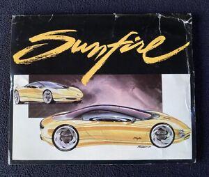 1990 Pontiac Sunfire Concept Car Press Kit Factory Photos