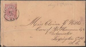 Confederate Cover with CSA #5 Ten Cent Stamp