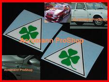 "2x 4"" 10.2cm Alfa Romeo clover leaf decal sticker 155 156 159 147 75 Mito Spider"