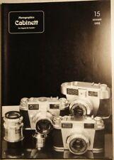 Photographica cabinett cuaderno 15 dic. 1998 leidolf, Agfa, Rollei, leidolf, Bilora