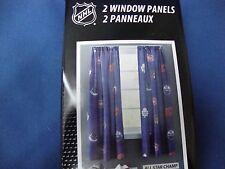 NHL all 6 canadians teams logos 2 pcs Window Panel Curtain Blue