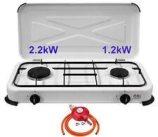 NJ-02 Gas Stove 2 burner Cooktop Lid Cooker Portable Camping Outdoor LPG 3.4kW