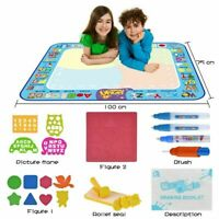 Water Drawing Mat Kids Doodle Painting Board Magic 3 Pens Toy Xmas Gift Z3