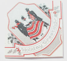 1930's Victorian carolers Christmas vintage greeting card C*