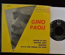 Gino Paoli SPAIN EP RCA 20756 Manana, Basta Con Cerrar Los Ojos and Sapore Di Sa