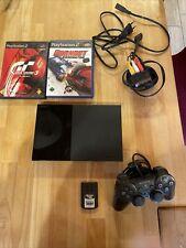 Sony PlayStation 2 Slim Konsole Schwarz PS2 + Controller + Memory Card + Spiele
