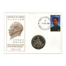 1996 - Liberia Mao 20th Anniversary Coin Cover (Mao)