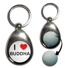 I LOVE COEUR Bouddha-Chrome Balle de Golf Marqueur Porte-Clés Nouveau