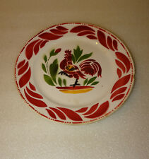 ASSIETTE DECORATIVE AU COQ LA LOUVIERE BOCH FRERES MADE IN BELGIUM, BELGIQUE