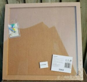 Framed Corkboard 40 cm x 40 cm with fixing kit by Tesco BNIB