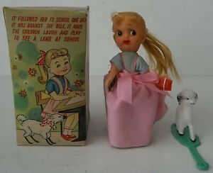 Vintage Mechanical Mary Had A Little Lamb Toy Made in Japan With Original Box