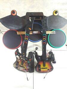 Nintendo Wii-U/Wii Guitar Hero World Tour WIRELESS BUNDLE Drum Set Kit Rock band
