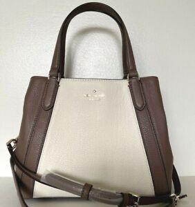 New Kate Spade Jackson Medium Triple compartment Satchel Leather Neutral multi