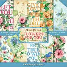 "Stamperia Flowers For You 8 x 8"" Paper Pack - NEW RELEASE"