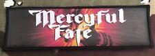 Mercyful Fate Logo Large Super Strip Printed Patch M066P Don't Break The Oath