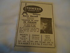 Barry Darvell - Towers Discount City BALTIMORE MD  - 1961 newsprint ad
