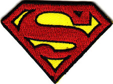 SUPERMAN LOGO--DC COMICS - MAN OF STEEL - Iron On Embroidered Patch/Cartoons