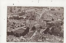 Wells From An Aeroplane Somerset Vintage Postcard 846a