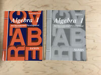 Saxon Algebra 1 Homeschool Packet + Test Forms