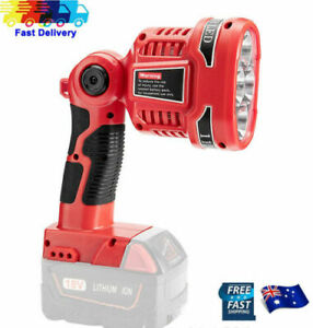 LED Work Flash Light Torch Lamp For Milwaukee 18V M18 Li-ion Battery charger