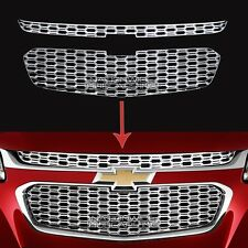 fits 2014 2015 Chevy Malibu CHROME Snap On Grille Overlays Front Covers Inserts